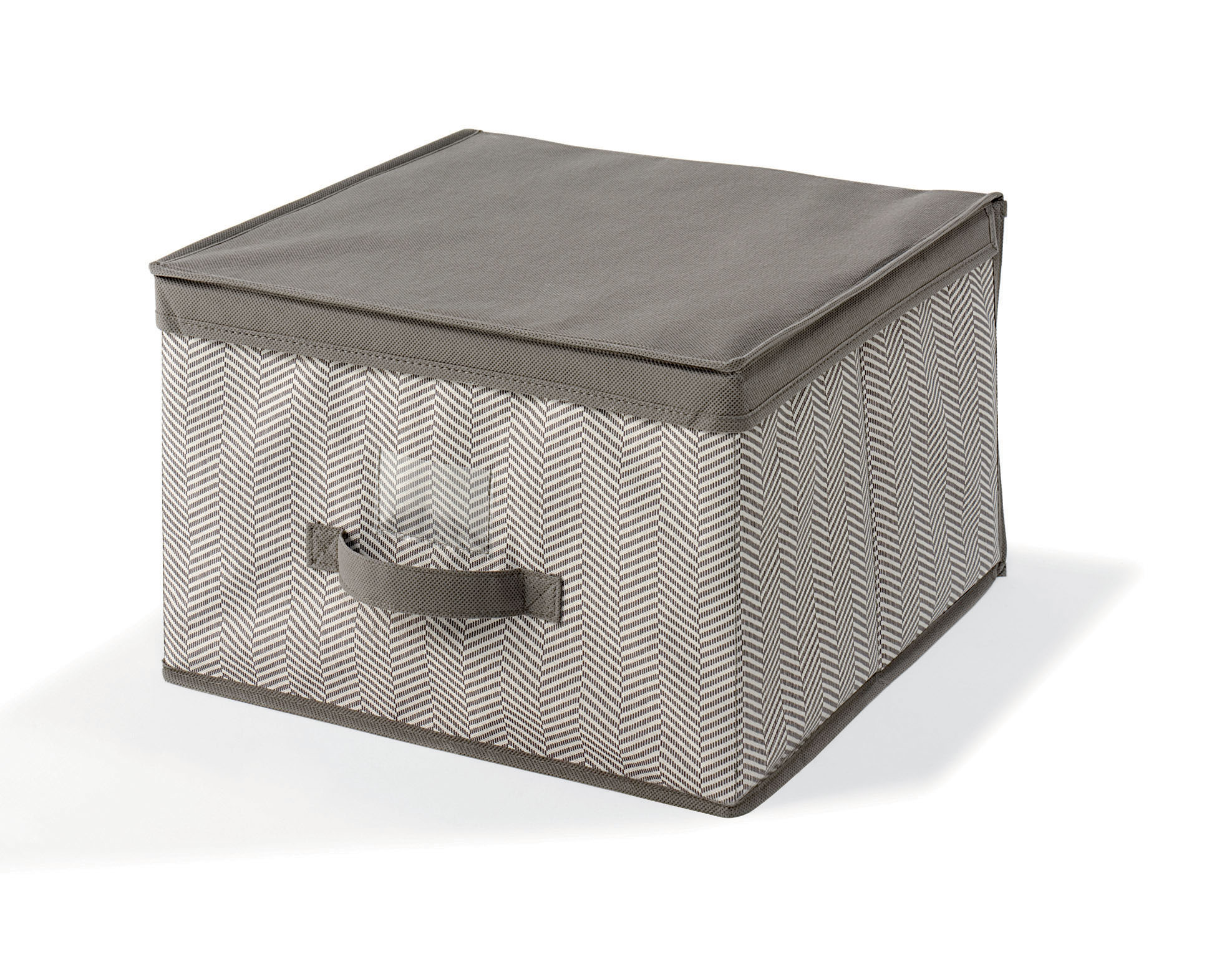 Caja de tela mediana 40 40 25cm orden en casa for Leroy cajas ordenacion