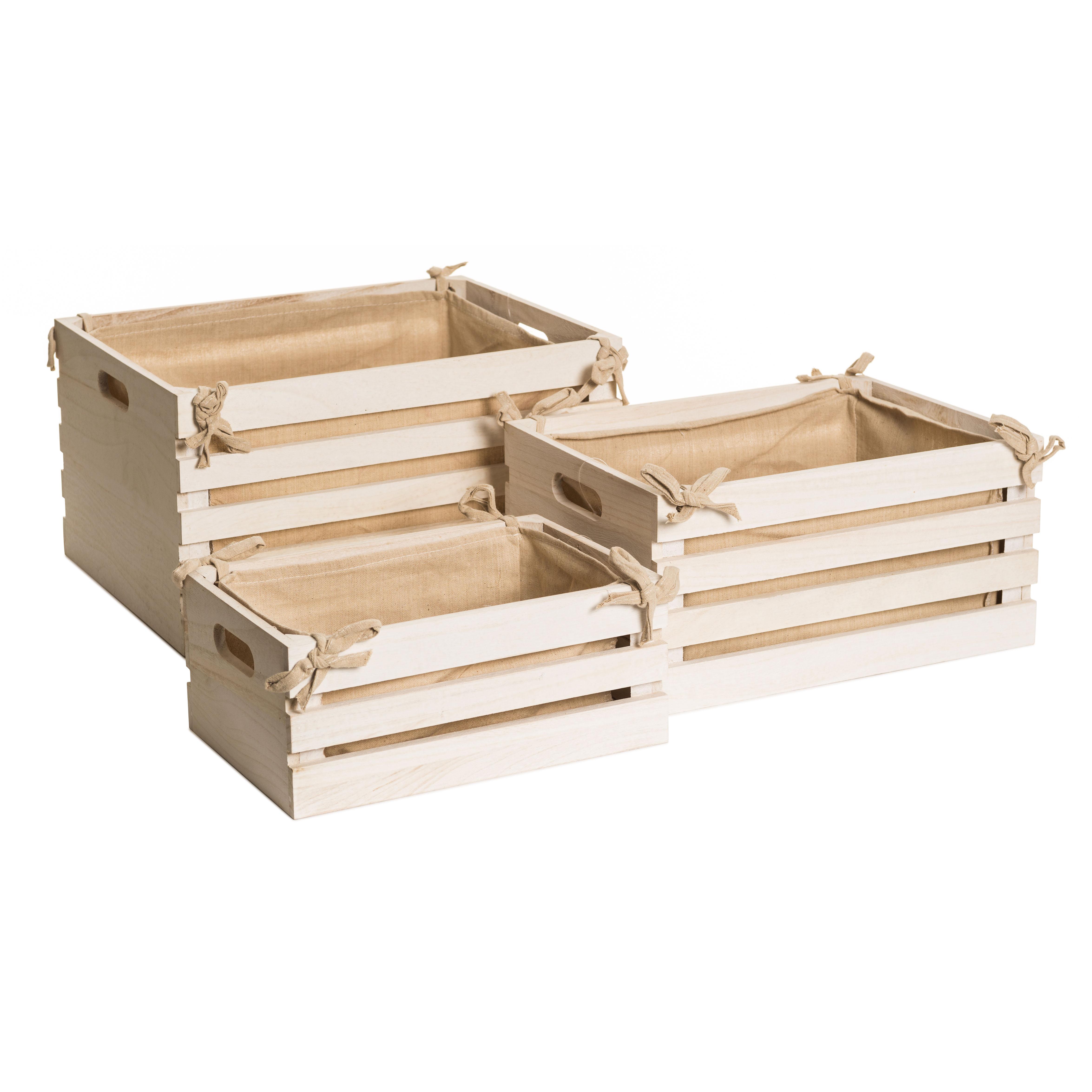 caja de madera blanca 32 21 13cm orden en casa