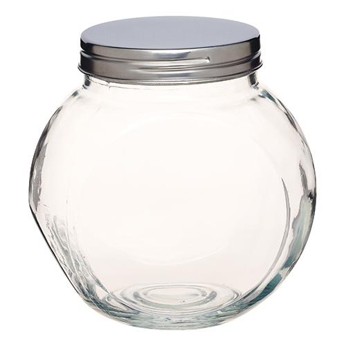 Bote redondo de cristal 1400ml orden en casa - Bote cristal con tapa ...