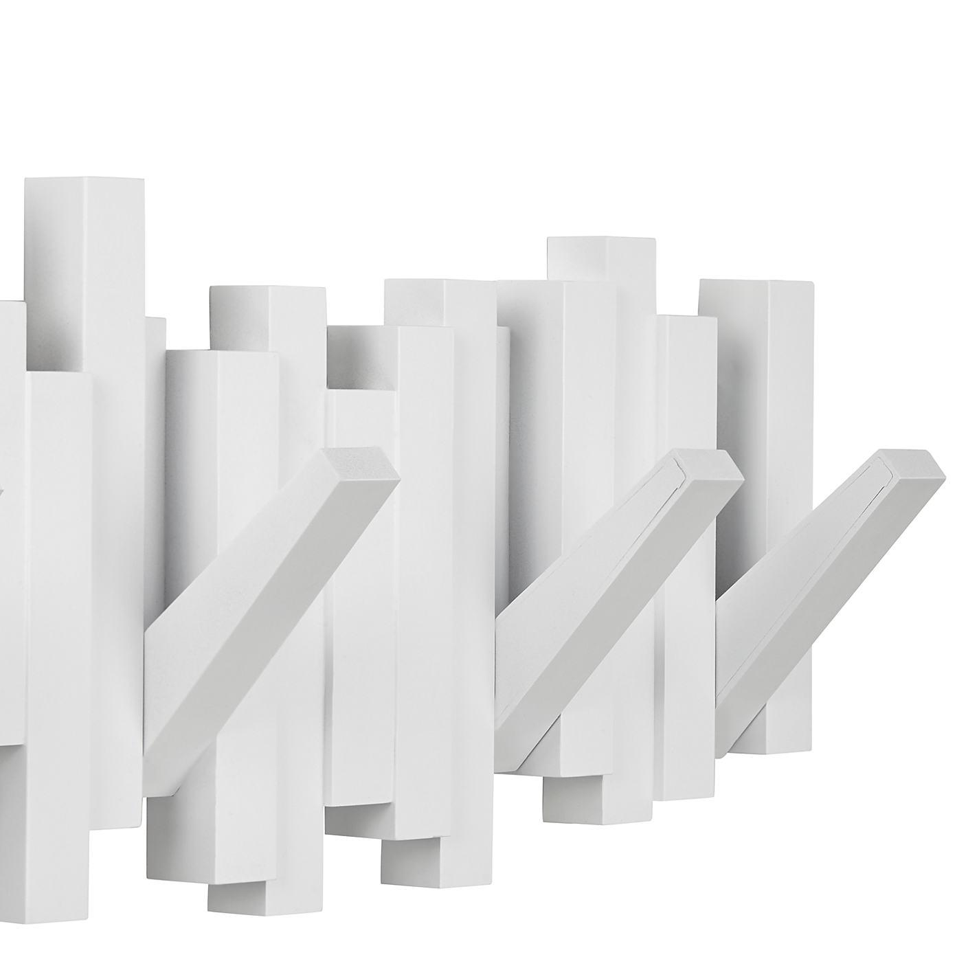 Perchero de pared multi sticks blanco orden en casa - Perchero pared blanco ...