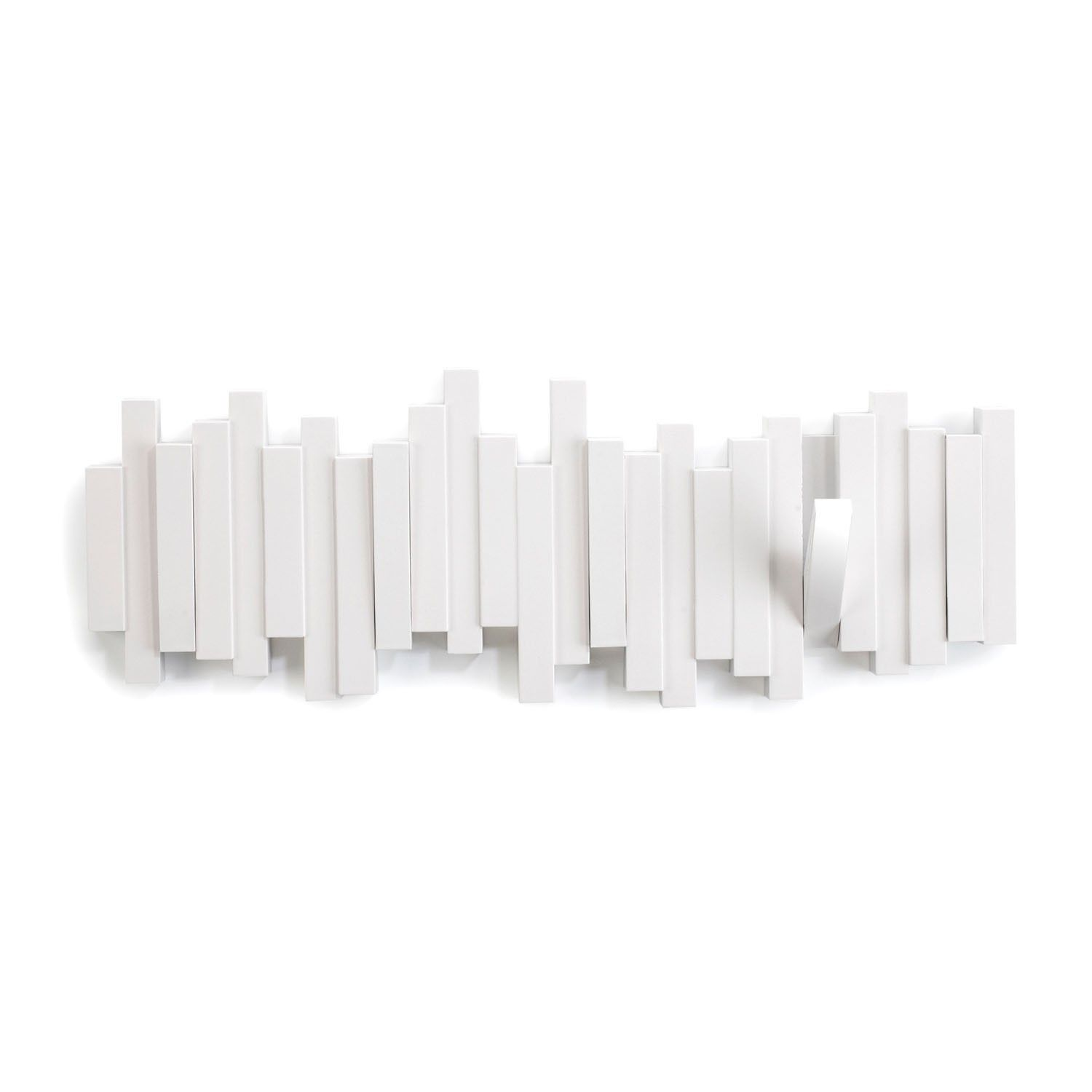 Perchero De Pared Multi Sticks Blanco Orden En Casa - Percheros-pared