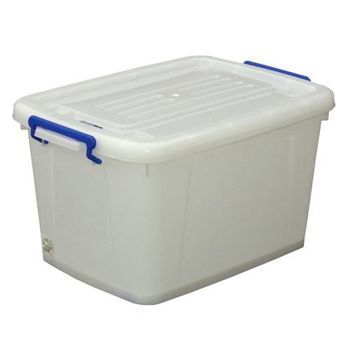 Caja de pl stico con ruedas 85l orden en casa - Cajas de plastico con ruedas ...